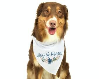 Dog of Honor Bandana, Dog Engagement Photo Prop, Dog Wedding Photo Prop, Dog of Honor, Dog Bandana, Bridesmaids, Flower Girl, Maid of Honor