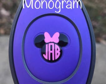Minnie Monogram Decal - Mickey Head Icon - Disney Inspired Magic Band Decal - Walt Disney World - fits 1.0 and 2.0