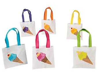 6/ I love My Ice Cream Party Favor bags / ice cream party / ice cream / party favors / tote bags