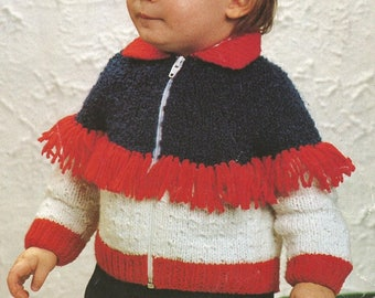 Instant Download - PDF-  Vintage Zip Front Cardigan Knitting Pattern (110)