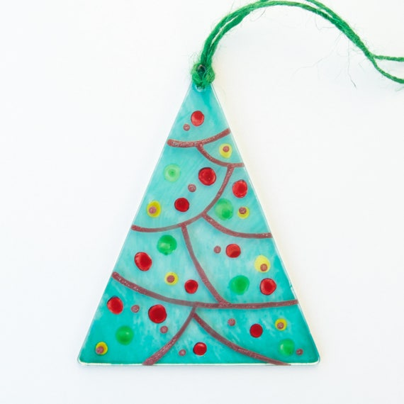Christmas Tree - Window panel - Suncatcher - Wall hanging - Christmas ornament - Christmas decoration - Ready To Ship