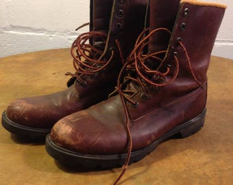 Vintage Timberland Hunting Motorcycle Hiking Work Leather Boots Very Nice Used Condition! Size 8-9