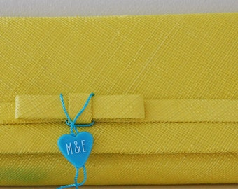 Sinamay Clutch Bag with stow away strap & vanity mirror
