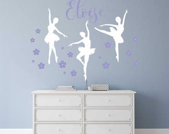 Ballet Wall Decals Etsy - Custom vinyl wall decals dance