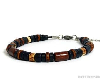 Beaded bracelet Greek ceramic beads womens bracelet mens bracelet beaded jewelry adjustable bracelet womens gift mens gift BB-27-02