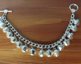 Christmas bracelet, jingle bracelet, bell bracelet, party bracelet, festive jewellery, gypsy bracelet, festival jewellery, boho bracelet