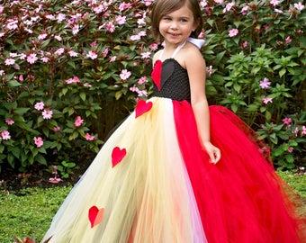 Girls Red Queen Tutu Dress, Alice In Wonderland Costume, Tutu Dress, Halloween Costume, Children's Clothing, Girls Dresses, Tutus, Dresses
