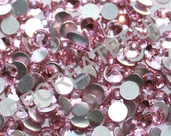 Pink DMC Premium Flatback Rhinestones, Wholesale pricing