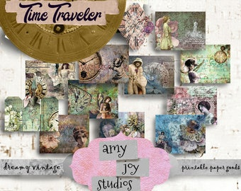 The Time Traveler  Victorian Journal  Journal Printable  journal paper printable  Digital journal kits  Paper Printable  Steampunk journal