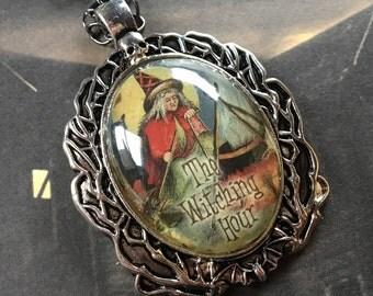 Halloween Jewelry, Halloween Necklace, Halloween Pendant, Witch Pendant, Witch Necklace, Halloween Gift, Gift For Her