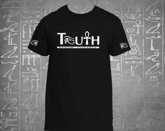 Ankh Shirt| Ankh T Shirt| Truth Tshirt| Eye of Ra Horus Heru Shirt| African Shirt| Mens African Shirt| Egyptian Shirt| Kemet Tshirt|TRUTH