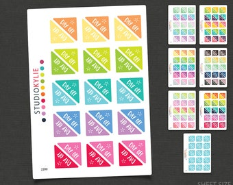 Day Off Corner Stickers - Planner Stickers - Repositionable Matte Vinyl to suit all planners