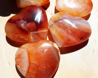 Carnelian Hearts, Healing Crystals and Stones, Carnelian Heart, Carnelian, Metaphysical Crystal, Witchcraft, Wicca, Witch