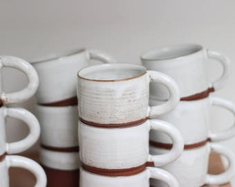 Two Ceramic Coffee Cups | 2 Small ceramic cups | READY TO SHIP