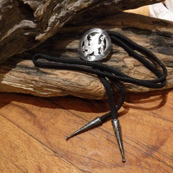 Large Peruvian Bolo Vintage Sterling Silver Bolo & Tips Heavy 19.1 Grams Peru Sterling Silver Warrior Signed Bolo 1950's Vintage Silver Bolo