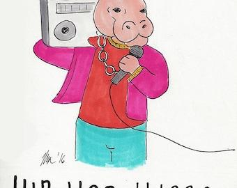 Hip Hop Hippo