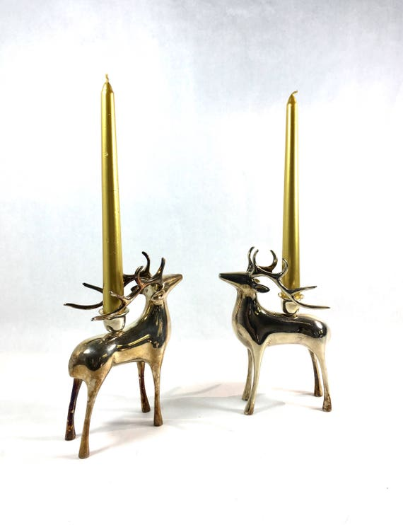 Silver Reindeer Candlestick Set Photo Courtesy of BestThingSince