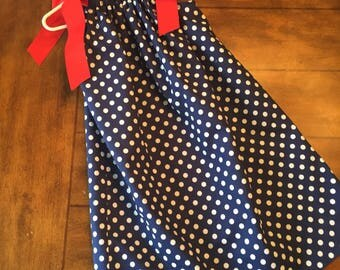 July 4th Pillowcase Dress/ Size 4T/ Independence Day Outfit/ Holiday Photo Shoot/