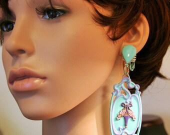 Earrings art nouveau - romantic VASE
