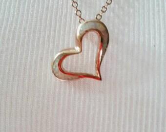 Opal Heart in Rose Gold Vermeil ~ NBJ359 ~ Rose Gold Heart