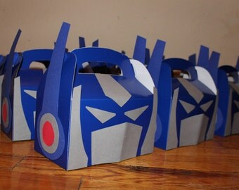 SUMMER SALE Transformers Treat boxes (set of 10)