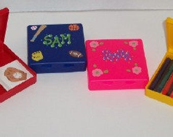 Personalized Keep It Box/Party Favors/Kids Storage Box/ Crayon Holder