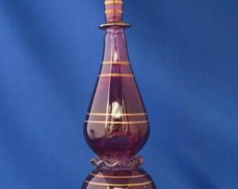 Tall Egyptian Glass Scent / Perfume Bottle