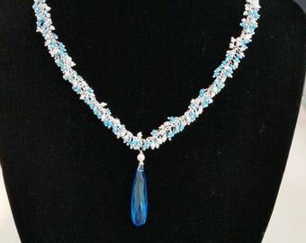 Swarovski Crystal Drop on Cluster Chain