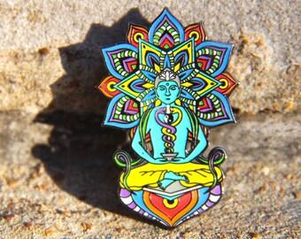 Geometric Mandala Pin Hat Lapel Festival EDM Rave Snapback Psychedelic Acid Trippy