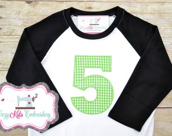 Birthday shirt, Boy's Birthday Shirt, Boy Birthday Shirt, Boy Birthday Applique, Boy Birthday Embroidery, Fifth Birthday Shirt