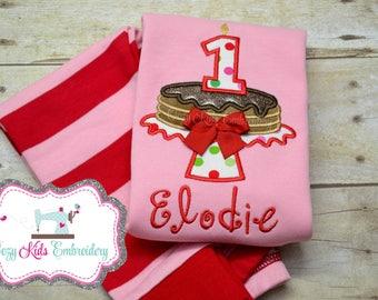 Pancake Pajamas, Girls Pancake Pajamas, Birthday Pajamas, Christmas Pajamas, Pancakes with Santa Pajamas, Sleepover Pajamas, Party Pajamas