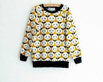 Kids sweatshirt, panda sweater, toddler sweatshirt, baby boy sweatshirt, baby girl sweatshirt, panda baby clothing, hipster baby clothes