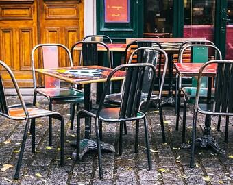 Photographie Fine Art de Paris - Terrasse Parisienne - Toile Photo de Paris - France