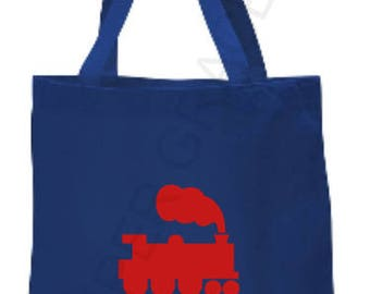 Train Tote Bag, Kids Tote Bag, Childrens Tote Bag, Personalized Tote Bag, Custom Tote Bag, Baby Gift Ideas