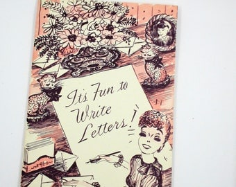 It's Fun to Write Letters Booklet Pamphlet -  Eaton's Fine Letter Papers - Advertising Eaton Paper Corp 1950 - Great Mid Century Graphics