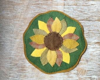 Sunflower Penny Rug Etsy
