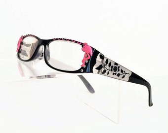 Reading Glasses with pink flamingos, Women's readers +3.00