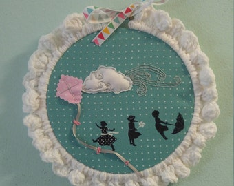 7 inch embroidery hoop art