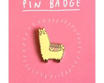 Alpaca Enamel Pin | cute alpaca pin badge