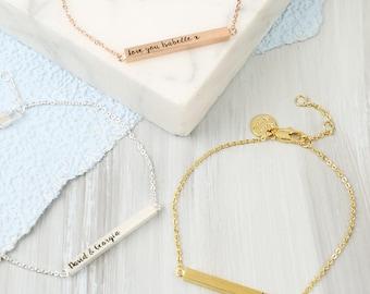 Personalised Horizontal Bar Bracelet