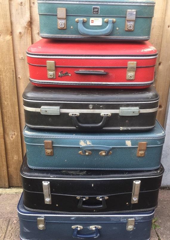 1960s - 1970s Vintage Retro Suitcases // Vintage Luggage // Vintage Home Decor // Vintage Storage Solution // Retro Cases // Photo Props