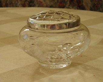 Cut Glass Minature Rose Bowl