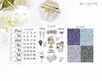 Celebrate Kit Add-Ons || Planner Stickers W-015