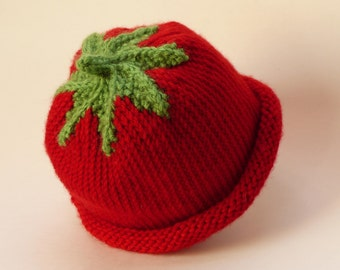 Red Berry Baby Hat, 3-6 Months