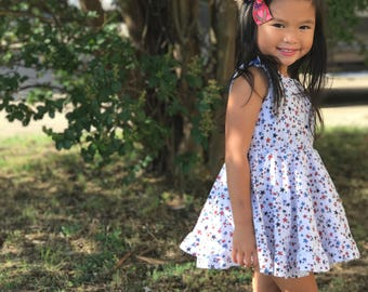 Stars Twirling Dress // July 4th Special