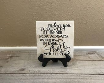 Personalized Gift, Baby Shower, New Baby, Nursery Decor, Gift for Daughter, My baby you'll be, New Mother, Gift for Daughter, bride from mom
