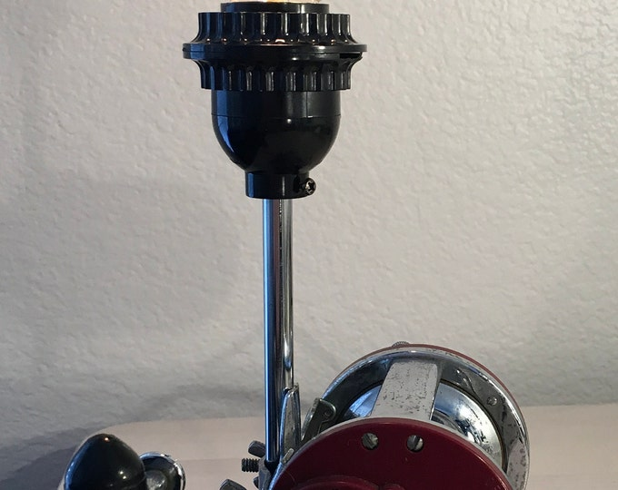 Vintage Fishing Reel Lamp