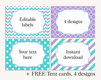 candy buffet tags etsy. Black Bedroom Furniture Sets. Home Design Ideas