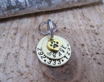 Pet ID tag, custom pet tag, Dog ID tags, Cat name tag, Dog name tag, Personalized pet tags, Custom dog tags, name and phone tags for pets