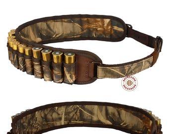 Shotgun Shell Cartridge Belt Holder Case Nylon Hunting Bandoleer 12 16 Ga